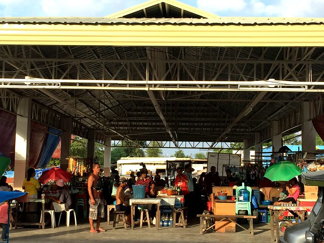 Vendors gather in the newly-rehabilitated Bogo City public market - July 2015