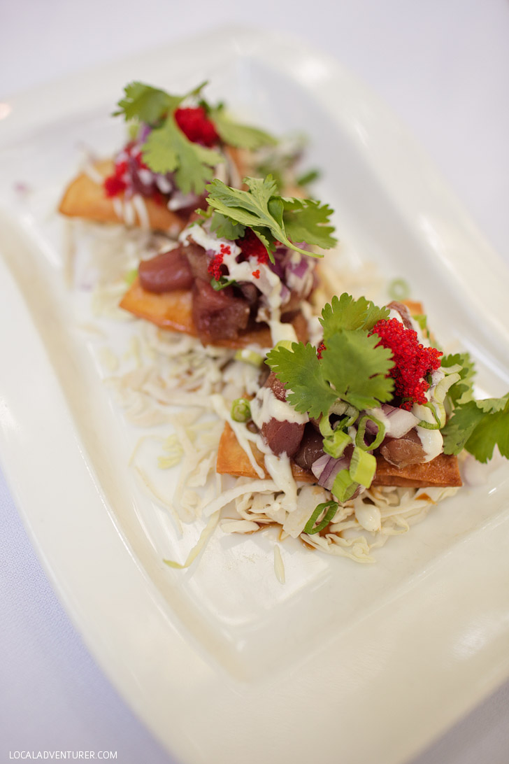 Ahi Tuna Sashimi Coco Bistro Turks and Caicos / Providenciales Restaurants.