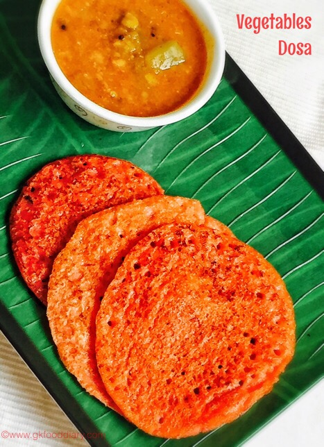 Vegetables dosa for baby2
