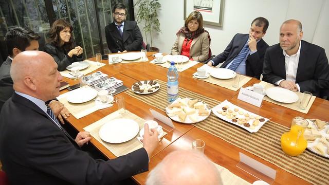 Visita de dirigentes del PS Argentino al Instituto Igualdad