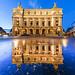 Puddle mirror on Opera Garnier in Paris by night by Loïc Lagarde