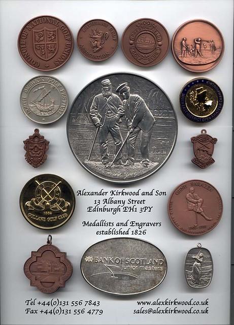 Examples of Alex Kirkwood medals