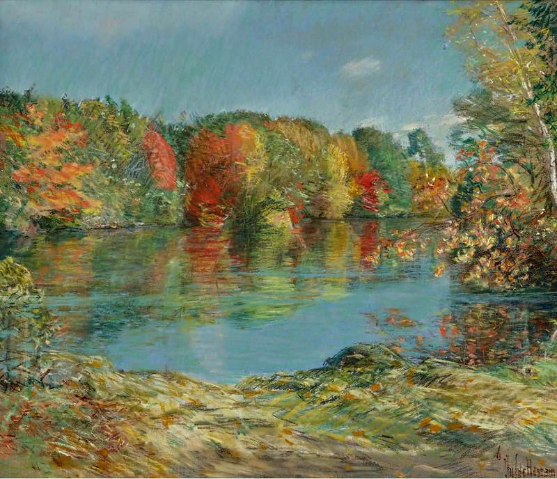 Frederick Childe Hassam - Walden Pond