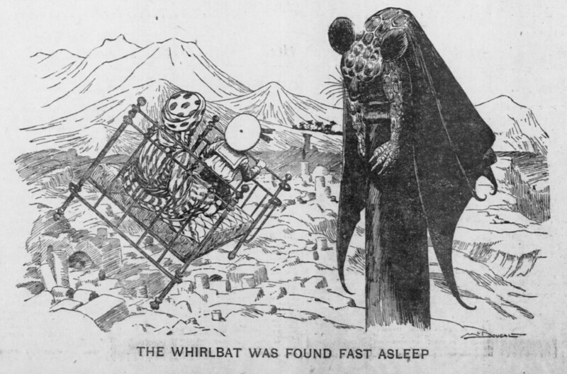 Walt McDougall - The Salt Lake herald., March 22, 1903, The Whirlbat Was Found Fast Asleep