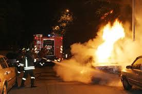 Conversano- auto in fiamme