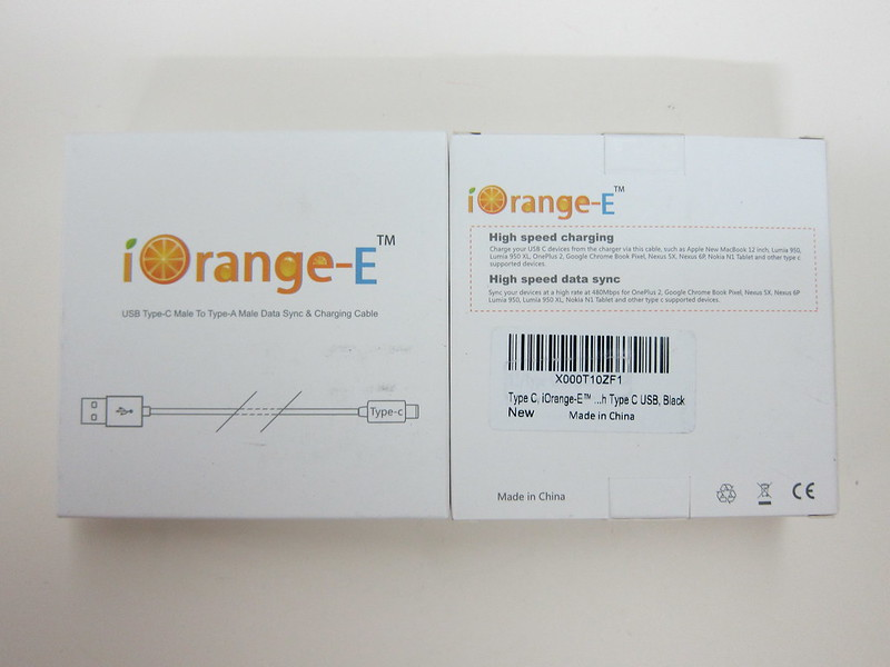 iOrange-E USB Type-C Cable - Box