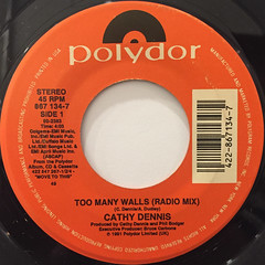 CATHY DENNIS:TOO MANY WALLS(LABEL SIDE-A)
