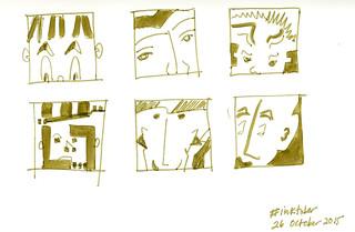 inktober faces