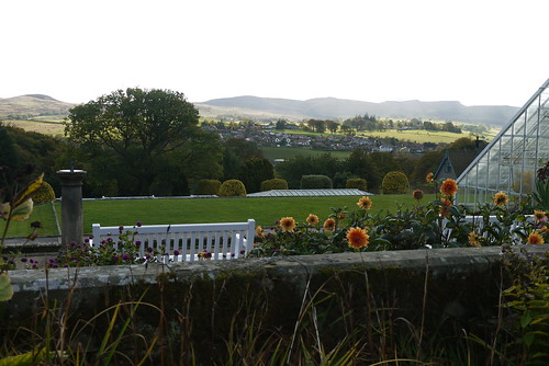 Rothbury from Cragside Formal Garden