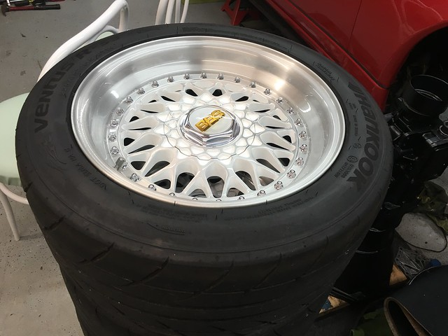 BBS RS 15x8 + hankook rs3 + 15x4.5 spare