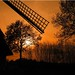 Sunset behind the black mill by Ostseeleuchte