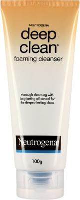 Best Face Wash for oily skin - Neutrogena Deep clean foaming cleanser