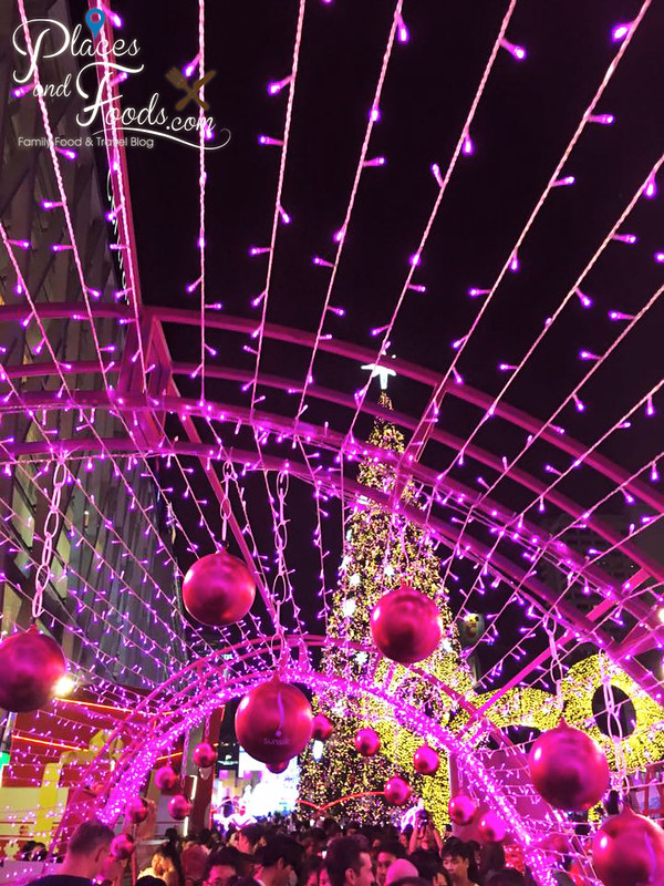 central world bangkok 2015 christmas pink jingle bells