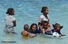 Happy swimmers, Pantai Mali, Alor NTT