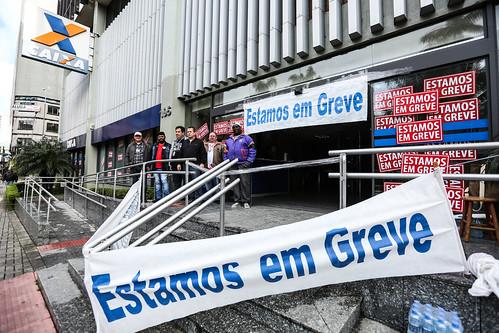 Greve dos Bancários em Curitiba - Dia 1