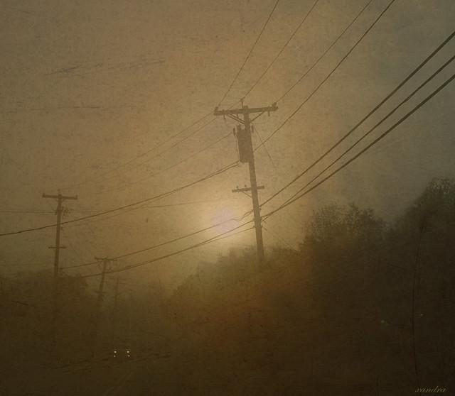 headlights in the fog...