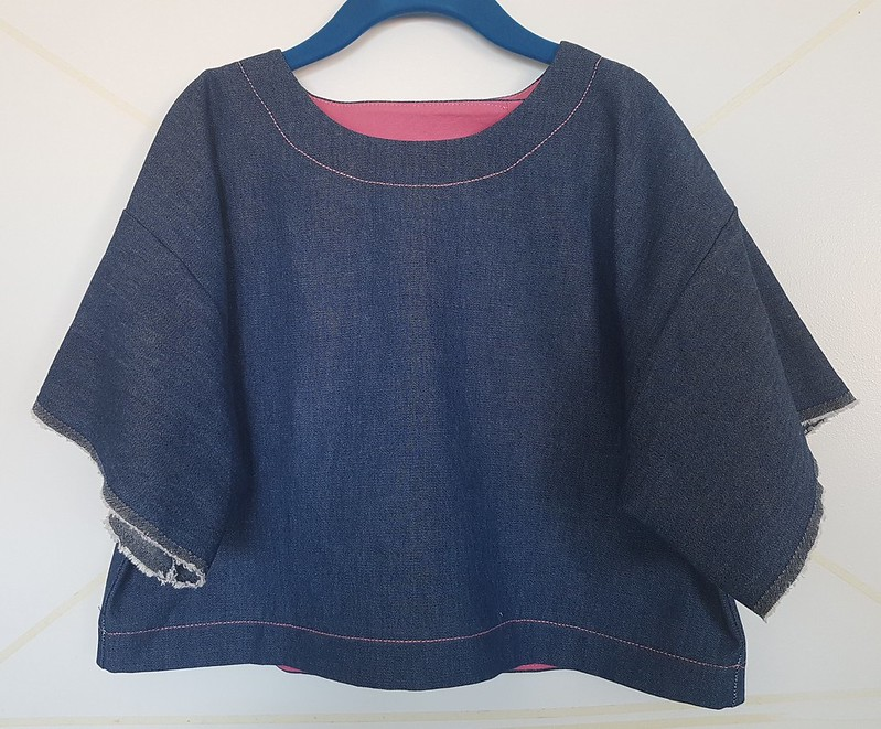 Hammer Time!  1990s pattern in knit from Clear It and soft denim