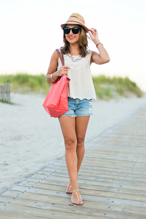 Cutoffs + Le Pliage at the Beach