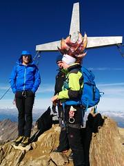 Am Gipfelkreuz der Weißkugel 3.739 m