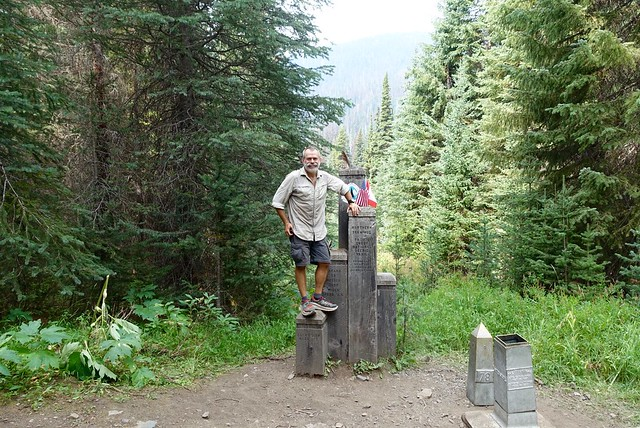 At the PCT northern terminus
