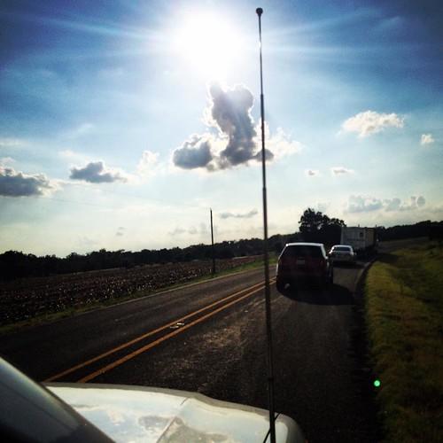 Driving down the back roads. #roadtrip #texas #austin
