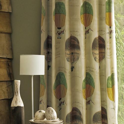 熱氣球嘉年華 英式 半遮光窗簾布 DA890133