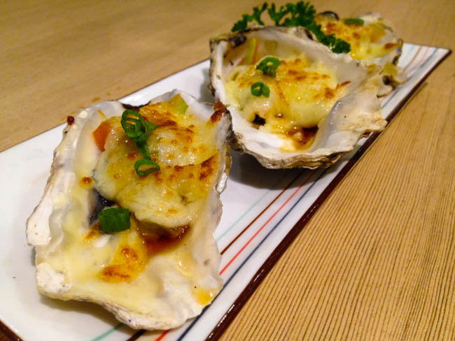 cheesy oyster-yaki