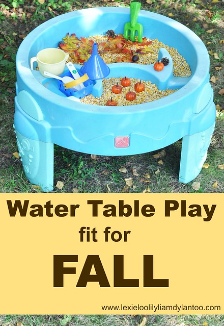 Water Table Play fit for Fall