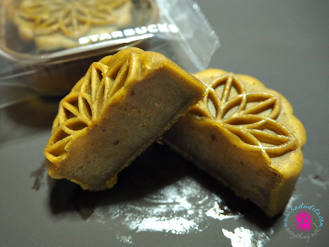 hojicha tea and osmanthus starbucks mooncake