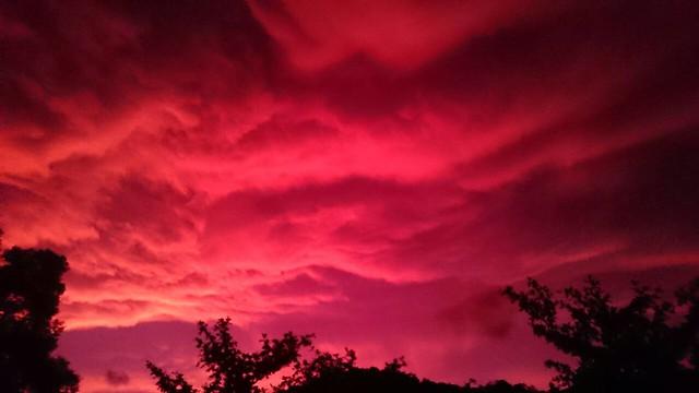 9月29傍晚台東的火燒雲2