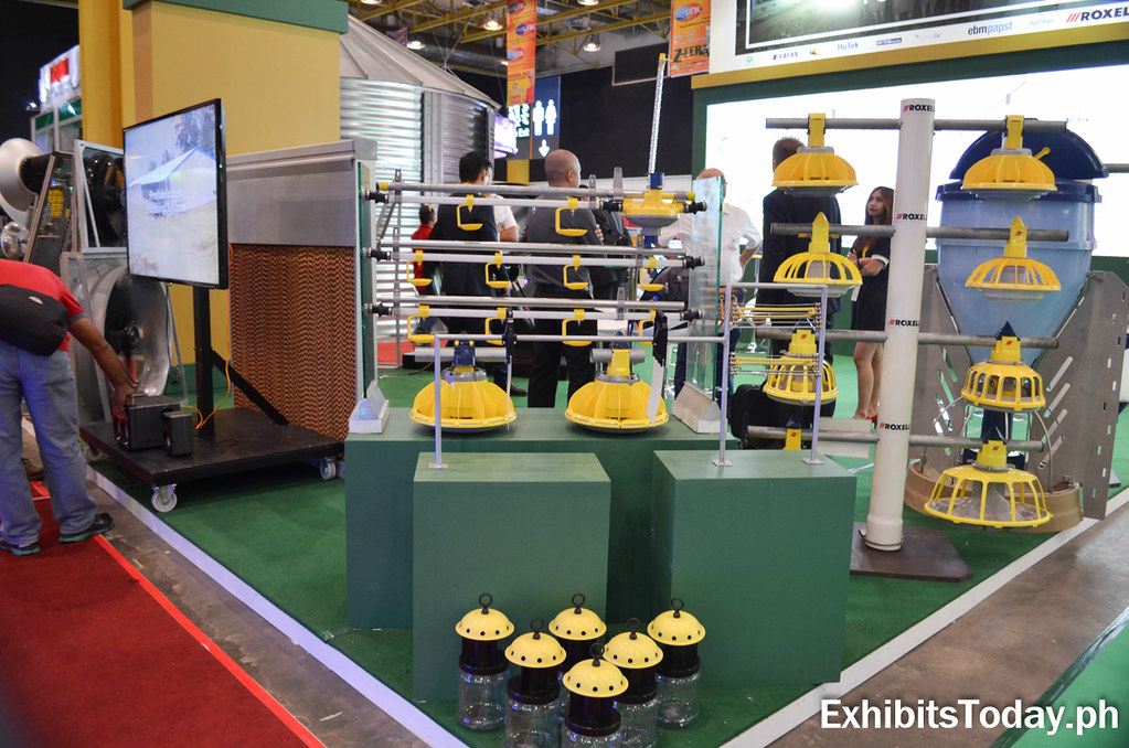 Feeding system equipment at Bitrade trade show booth display