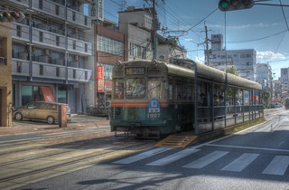 Tramcars at Hiroshima on OCT 28, 2015 (10)