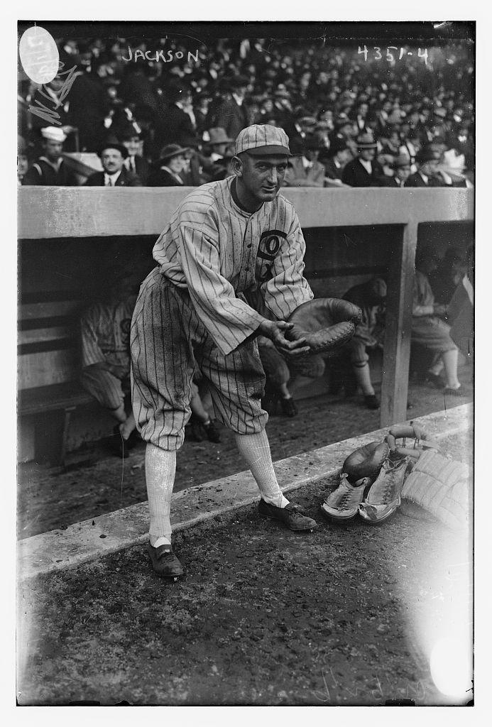 [Shoeless Joe Jackson, posing as catcher, Chicago AL (baseball)] (LOC)