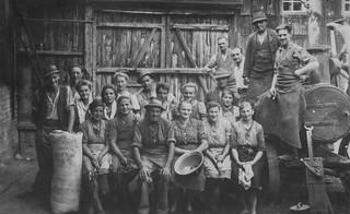 Maschinendrusch beim Schusterandretbauer (Frauscher) in Magetsham