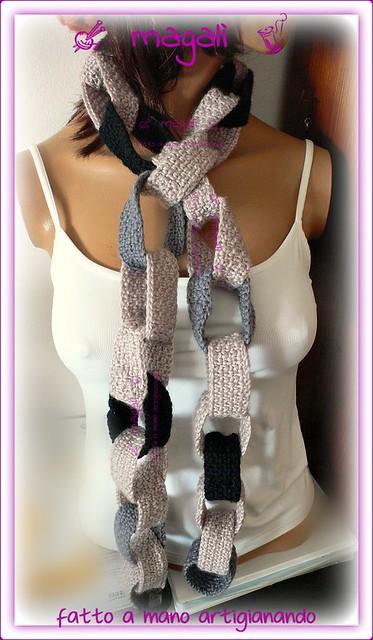 sciarpa a catena
