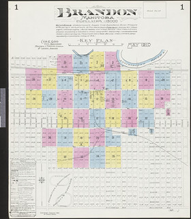 Insurance plan, sheet 1, Brandon, Manitoba, May 1910 / Plan d'assurance-incendie, feuille 1, Brandon (Manitoba), mai 1910