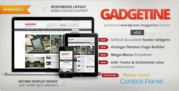 Themeforest Gadgetine v3.0.8 - Wordpress Theme for Premium Magazine