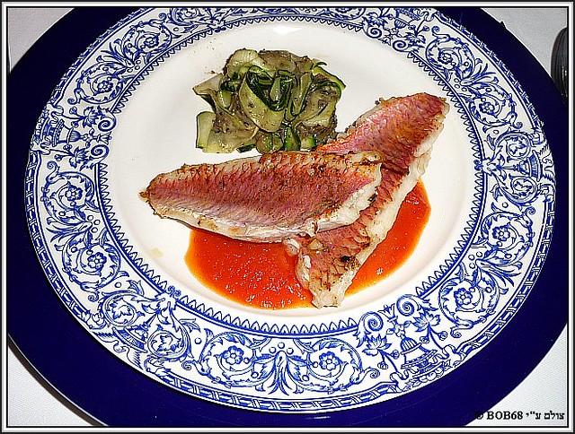 פילטים של ברבוניה בארוחת הערב ב-Domaine de Rasigous
