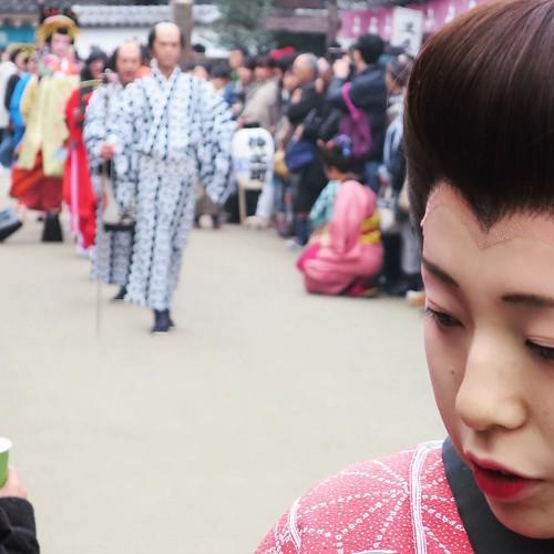 花魁と町娘。 #日光江戸村 #edowonderland