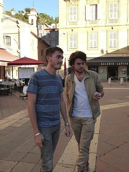 clem et paul dans le Vieux Nice