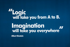 Logic will take you from A to B. Imagination will take you everywhere -Albert Einstein