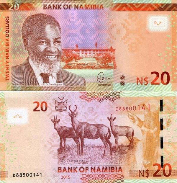 20 Dolárov Namíbia 2015