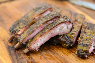 Barbecue Ribs with South Carolina Mustard Sauce