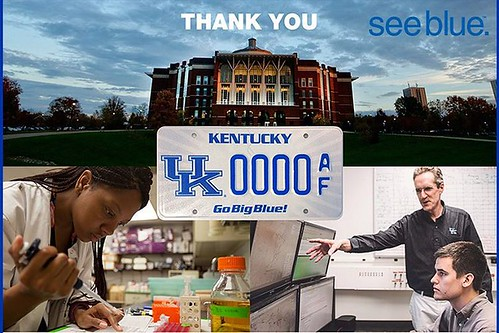 Thanks to all the Wildcats across #BBN who sport a #UKCarTag on their vehicle! You collectively contribute around $300,000 to UK student scholarships! #grateful