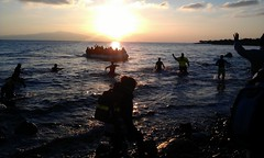 Boat arrives on Lesvos, December 14, 2015