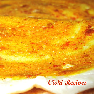 Spicy egg dosa