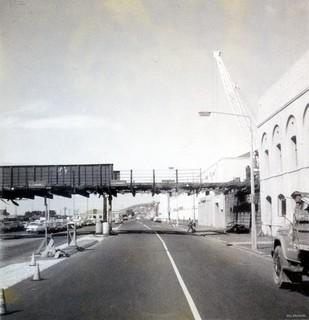 Demolition of old Cumberland Street bridge, 1977
