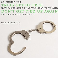It is for freedom that Christ has set us free. Stand firm, then, and do not let yourselves be burdened again by a yoke of slavery. Galatians 5:1 NIV