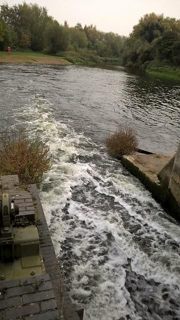 Houghton Mill rush of water