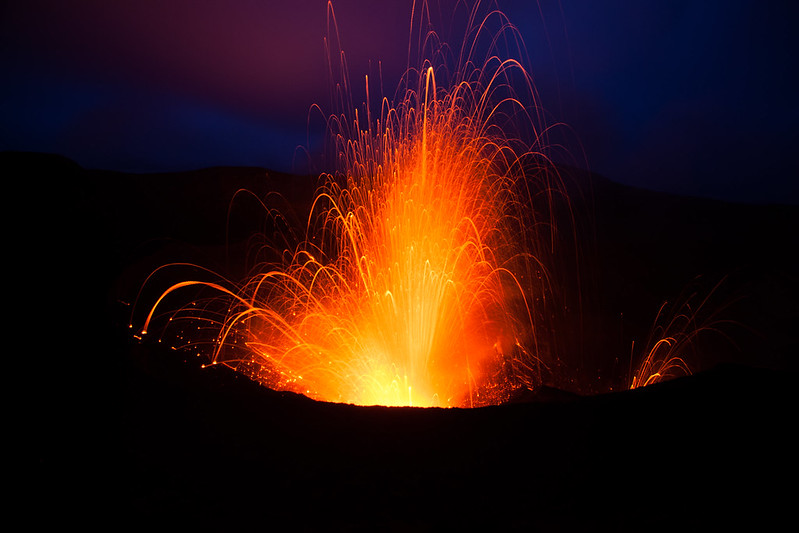 nighttime is the ultimate time to see Mt Yasur Volcano in its full glory, and well worth the relatively late journey back to guest accommodation